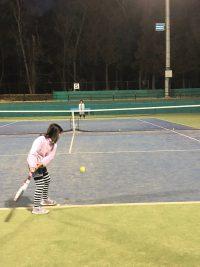 本日、智光山公園テニススクールでレッスンでした