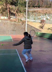 本日のテニスレッスン