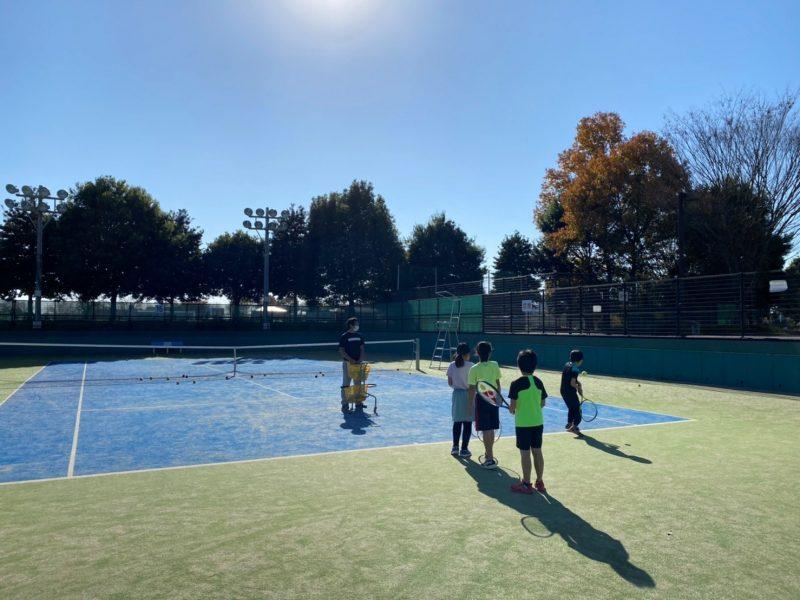 秋のテニス教室